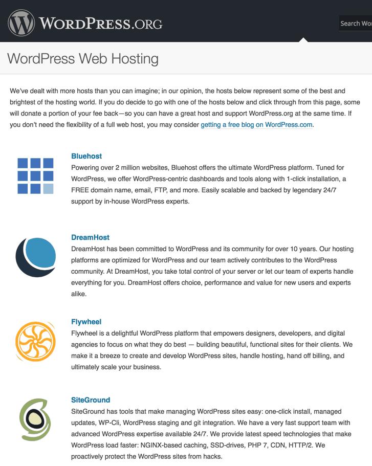 best WordPress hosting 2016