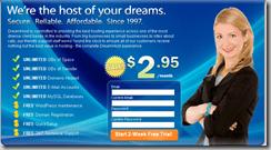 Dreamhost Huge Promo: Webhosting for 2.95$ + Free Domain