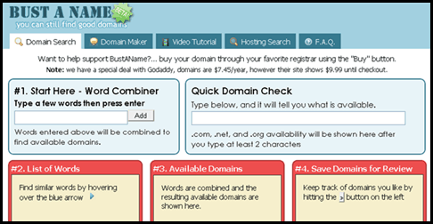 BustAName 5 Useful & Free Domain Checker Tools