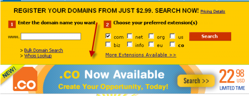 name cheap domain 500x194 4 Websites to buy .Co Domain Extension