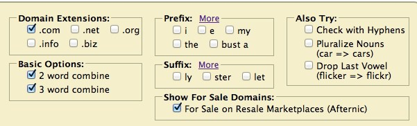 domain prefix and suffix
