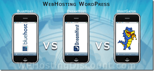 Hostgator Vs-Dreamhost Vs Bluehost
