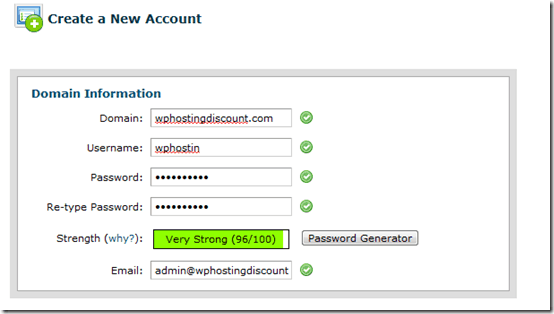 domaininformation thumb How to Create a new Client cPanel account using WHM Reseller hosting