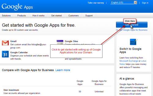 get started google apps 500x316 How to Set Up Google Apps For Domain?