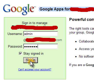 login admin account How to Set Up Google Apps For Domain?