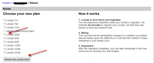 linode upgrade plan 500x207 How to Upgrade Linode VPS Webhosting Plan