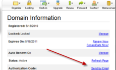 How to Find GoDaddy Domain Authorization Code for Transferring Domain Name