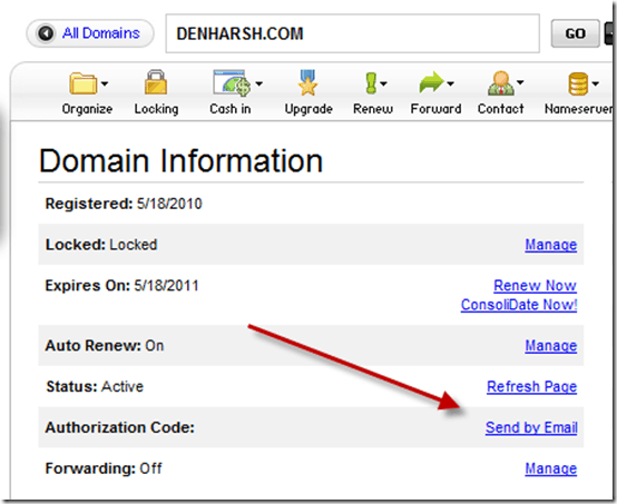 godaddydomainauthorizationcode thumb How to Find EPP Domain Authorization code for Godaddy Domains