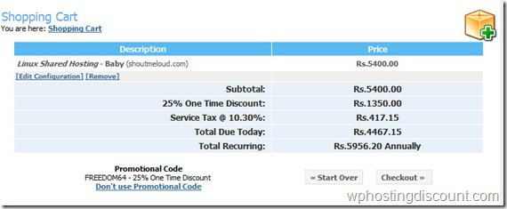 hostgatorindiahosting thumb Hostgator India Offers Special 25% Discount Coupon on Indian Independence Day: 2011