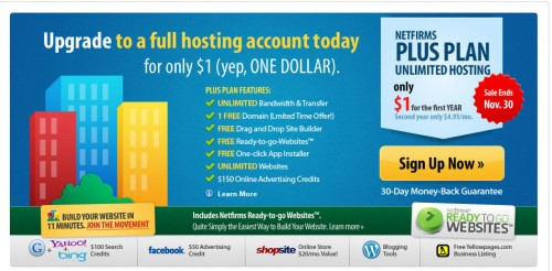 Netfirms Black Friday Sale Discount 500x246 Web Hosting Black Friday Sale 2012 Discounts