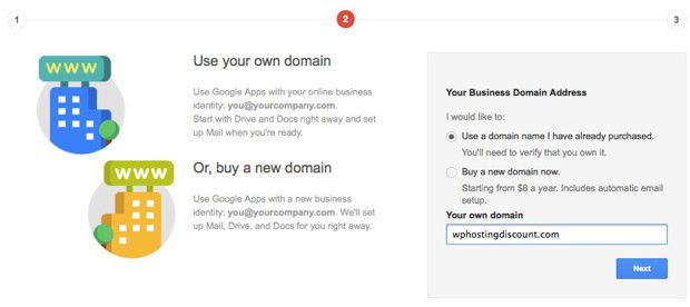Google domain for business