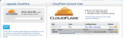 Setup Cloudflare 500x156 Bluehost Offers Free CDN Using CloudFlare Integration
