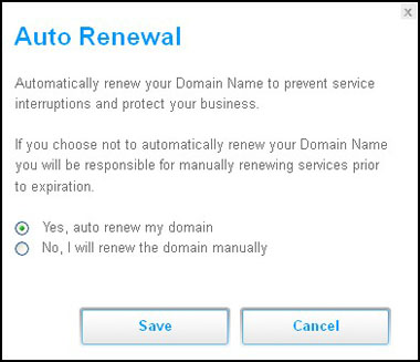 Domain Auto Renewal