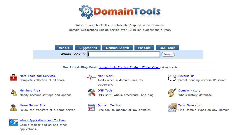 Domain Tools Whois Lookup How To Check History Of A Domain Name