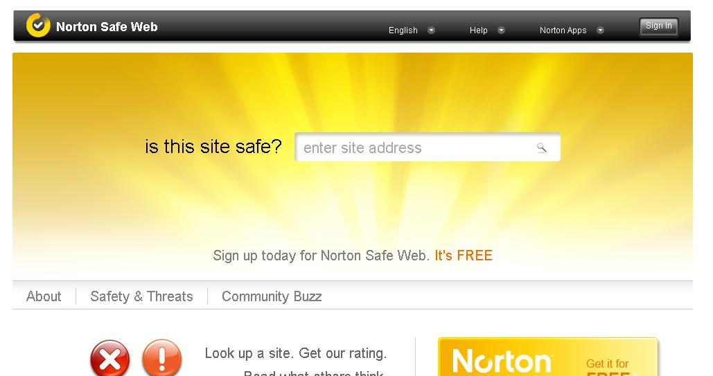 Norton Safe Web How To Check History Of A Domain Name