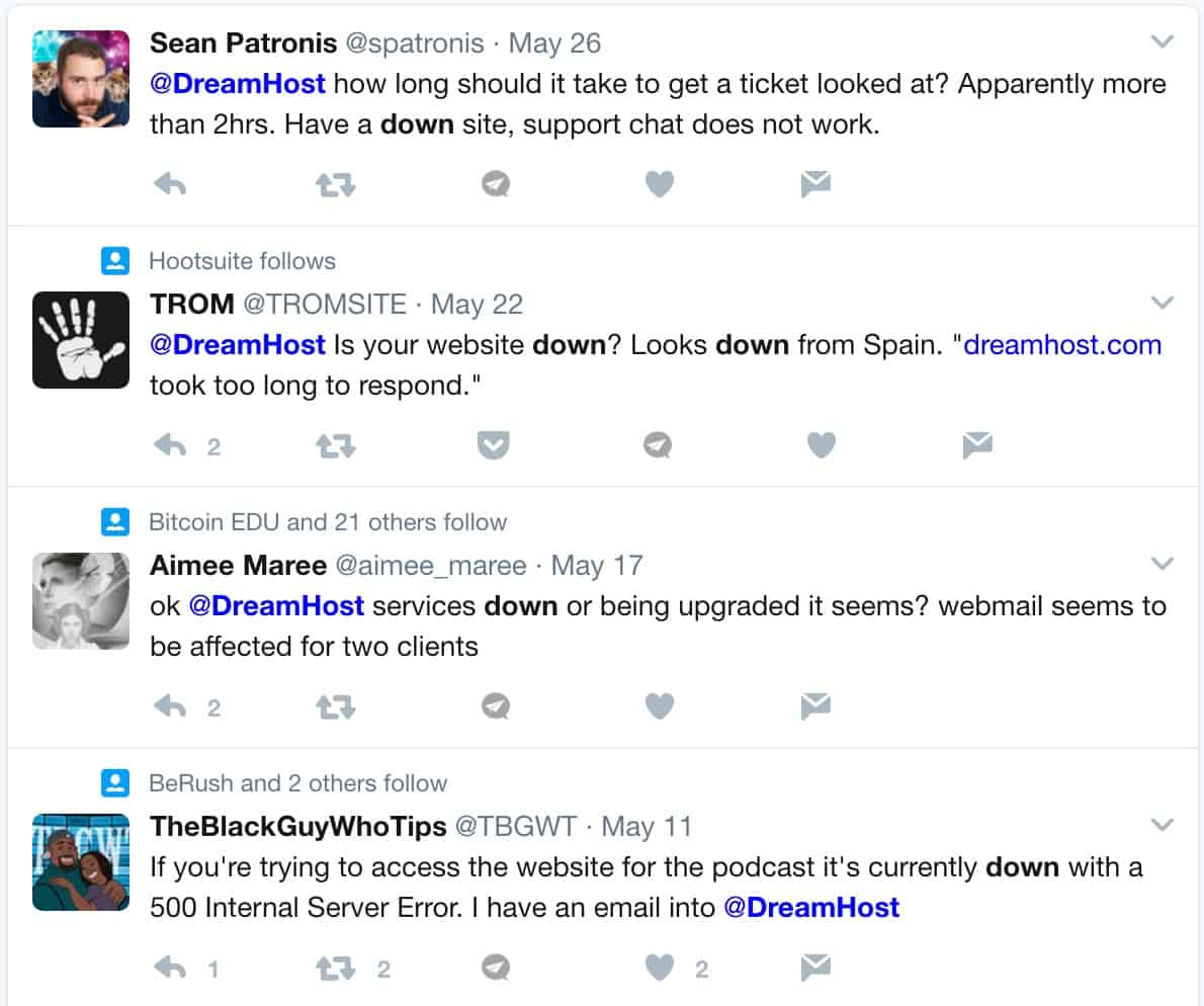 DreamHost down