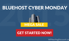 Bluehost CyberMonday Discount: 2016 Mega Sale