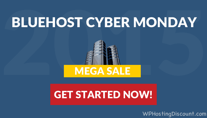 Bluehost CyberMonday Discount: 2018 Mega Sale