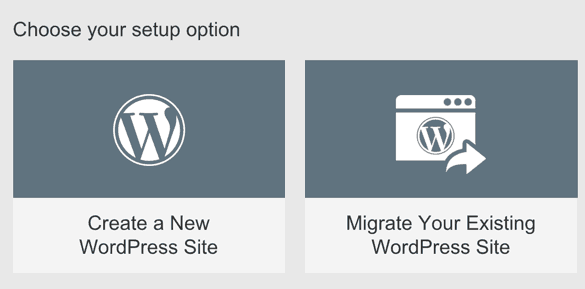 Create new WordPress site