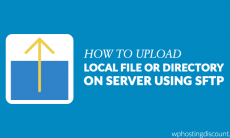 How To Upload Local File or directory on Server using sFTP