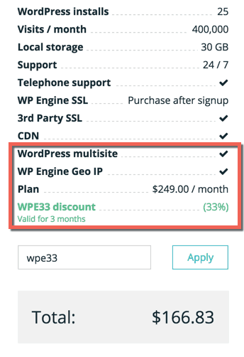 WP Engine Promo