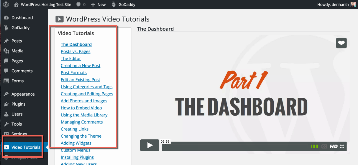 WordPress Video Training free