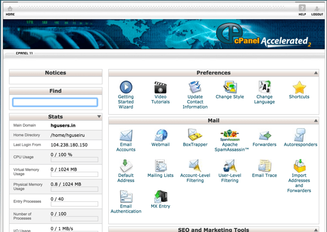 hostgator in cPanel hosting