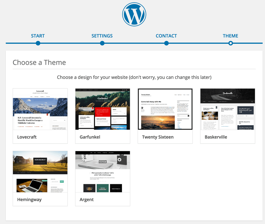 select WordPress theme
