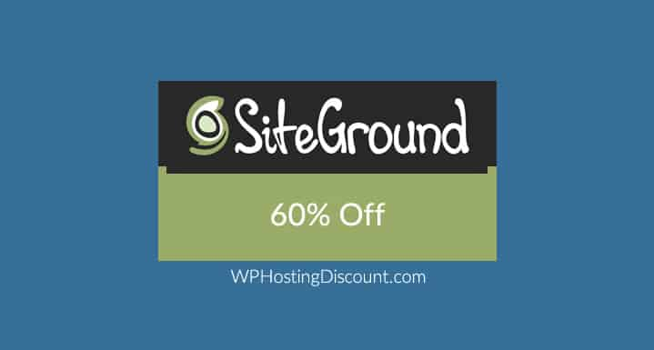 SiteGround Hosting Discount: Massive 60% off