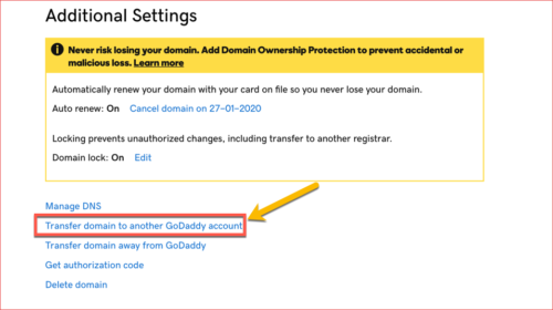How To Transfer Domain from One GoDaddy Account to Another GoDaddy